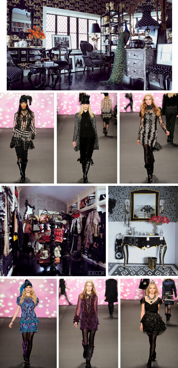 The Home of Anna Sui | Elle Decor September 2009 | Photo Credit Eric Boman | Anna Sui Fall 2009 Ready-to-Wear via Style.com